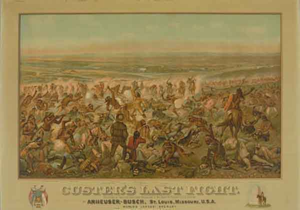 "Painting of ""Custer's Last Fight"""